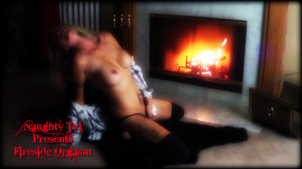 Naughty Tyi Fireside Orgasm Masturbation Nude Naked