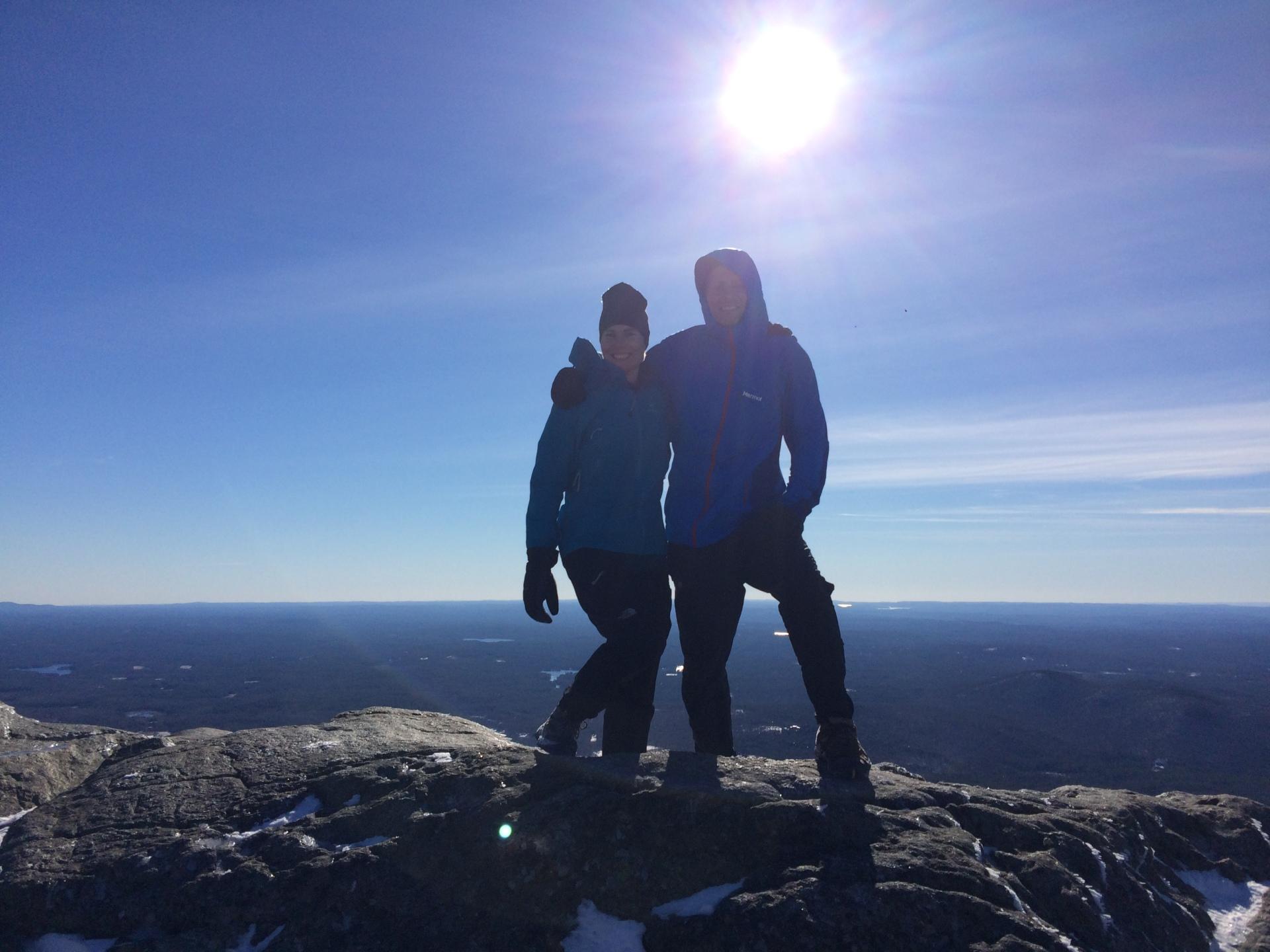 Alyson and Joseph reach the top!
