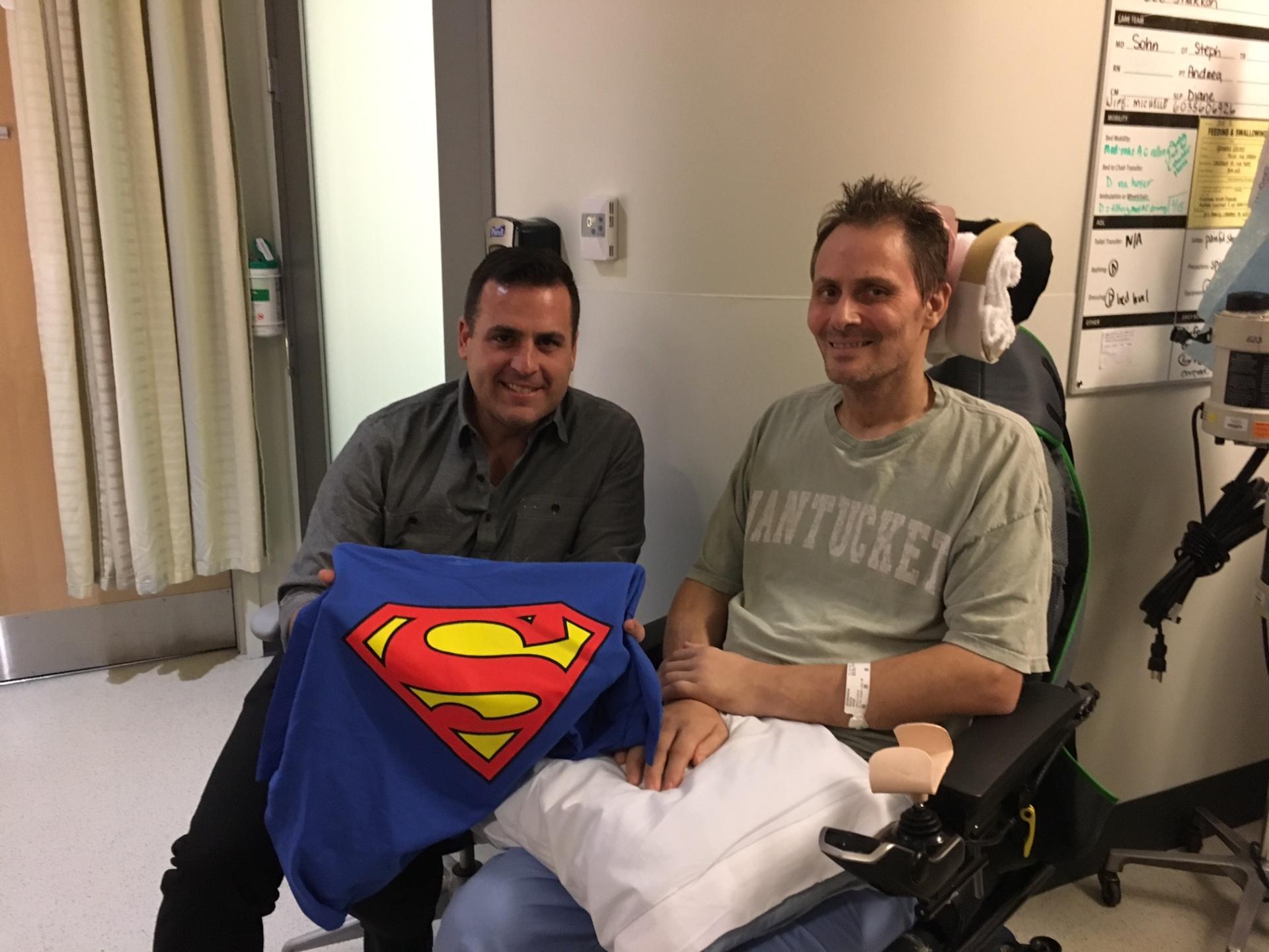 Tim and Chrisma Visit! SuperMan