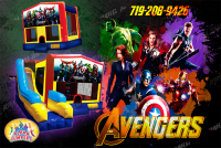 avengers bounce house rental in colorado springs, avengers jumpers for rent