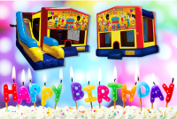 Happy Birthday bounce house rental in colorado springs, Happy Birthday jumpers for rent