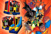 Justice league bounce house rental in colorado springs, Justice league jumpers for rent