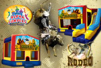 Rodeo bounce house rental in colorado springs, Rodeo jumpers for rent