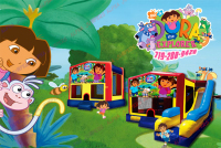 Dora the explorers bounce house rental in colorado springs, dora and diego jumpers for rent