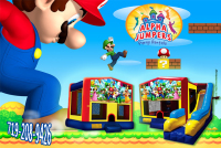 Mario bros  bounce house rental in colorado springs, Mario bros jumpers for rent