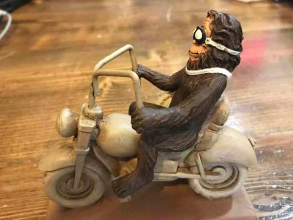$11.99  Bigfoot Biker figurine