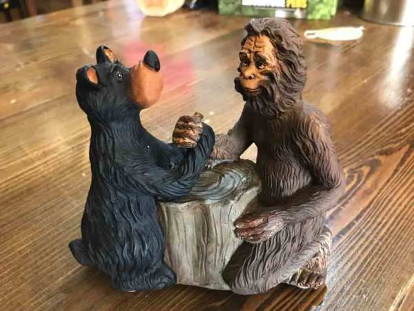 $12.99  Bigfoot Arm Wrestle figurine