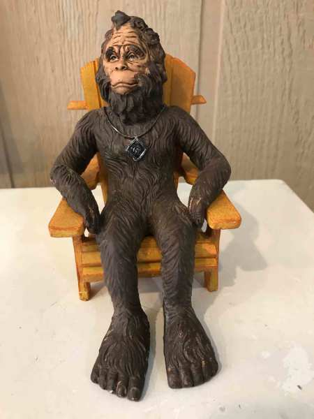 "$19.95  6"" Bigfoot in Adirondack chair"