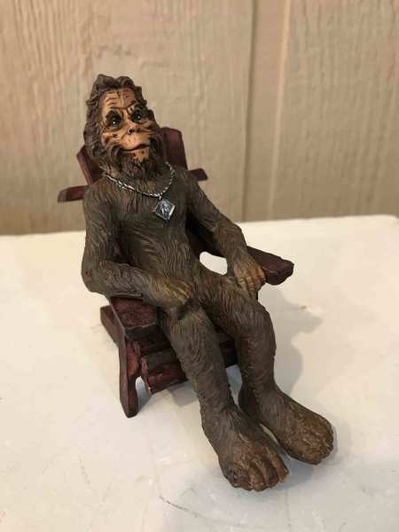 $8.95  Bigfoot in Adirondack chair 3""