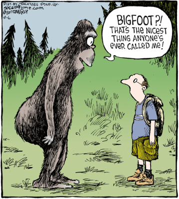 """Canadian Bigfoot, eh?"""