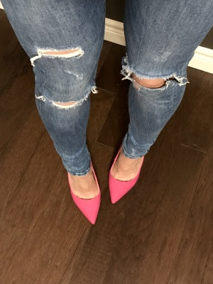 Ripped Skinnies & Hot Pink Pumps