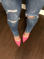 Ripped Jeans and Hot Pink Pumps