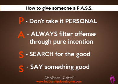 How to give someone a P.A.S.S.