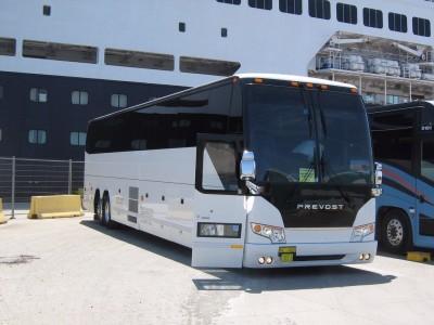 Charter Bus at Cruise Ship