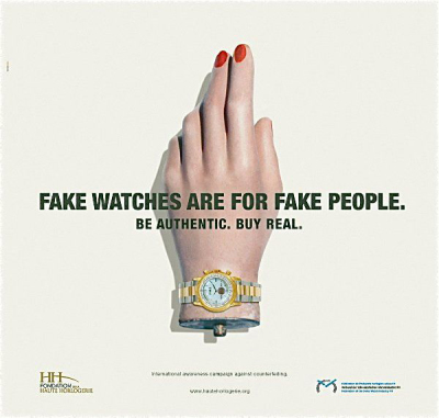 Fake Watches = Fake People