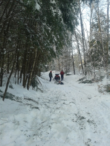 Trail cleanup following heavy snow