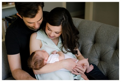 Hedrick Family- Newborn Lifestyle Session