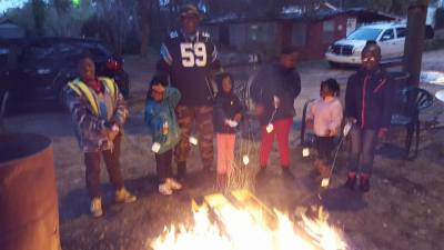 Roasting Marshmallows with the kids