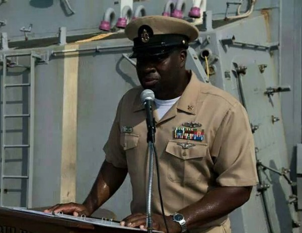 Addressing Crew of USS Bulkeley
