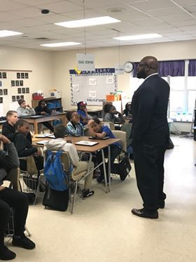 Inspiring the kids at Whale Branch Elementary