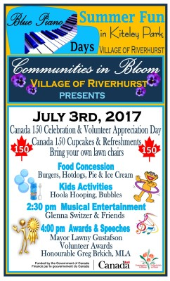 Canada 150 Celebration and Volunteer Appreciation Day