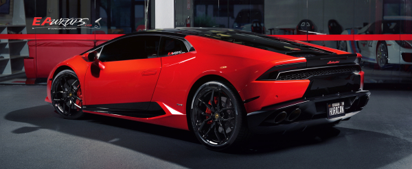 Huracan in Black and Red