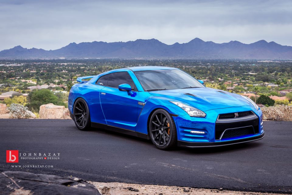 Chrome Blue GT-R