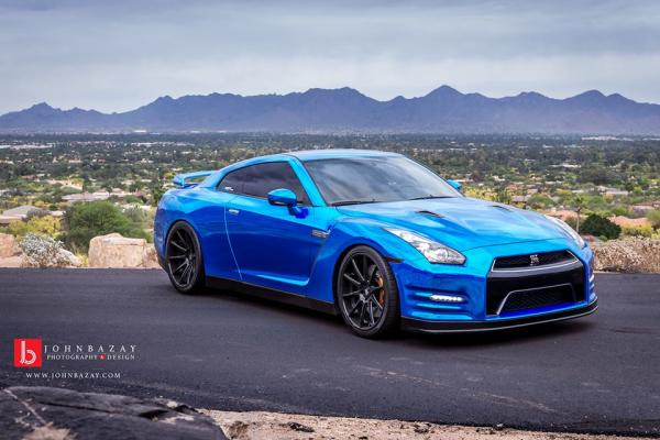 Chrome Blue GT-R