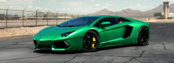Bright Green Aventador