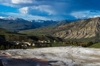 Mammoth Hot Springs as seen from the Main Terrace (Upper Terrace)