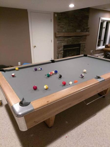 "Jareds Review - ""Did exactly what they said they would do. Neatly disassembled the pool table and transported ti to my new house, replaced the felt and made it look beautiful again. i would recommend this company to anyone looking to move a pool table."""