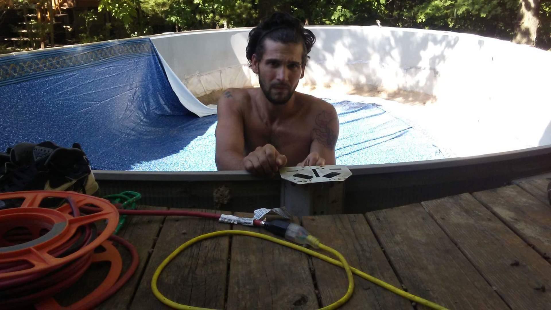 Rico installing liner