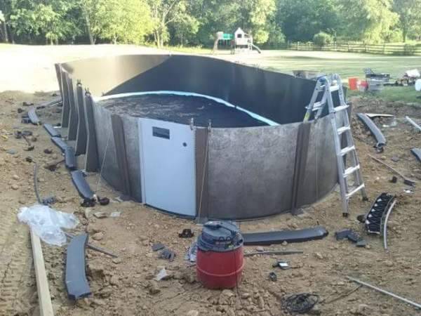 Full Pool wall installed