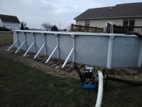 Removal of above ground swimming pools.