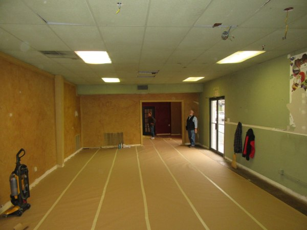 Gallery 1 prepared for painting
