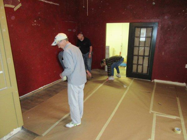 Preparing gallery 2 in rear of building