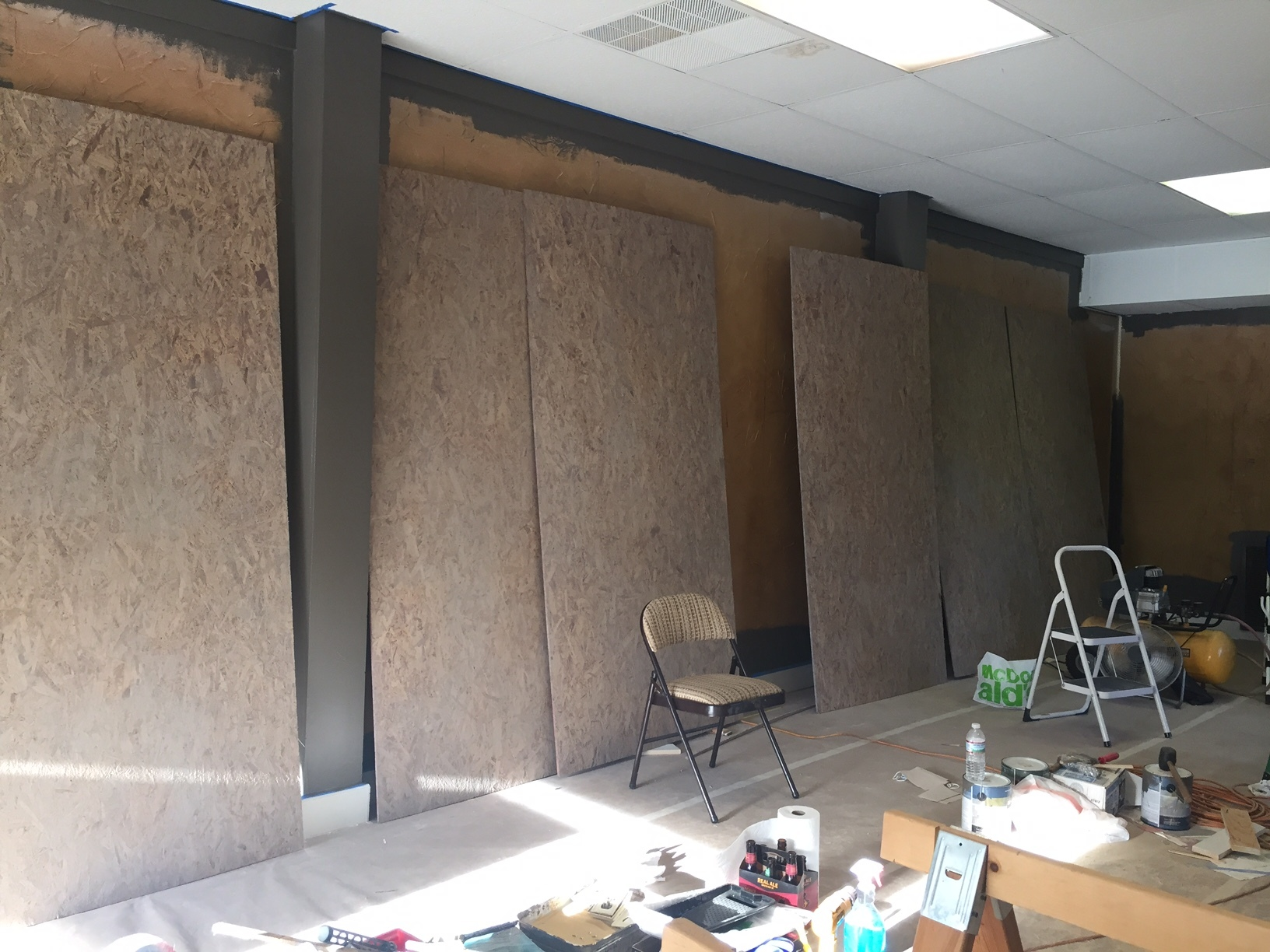 Feb 8th and walls beginning to go up...