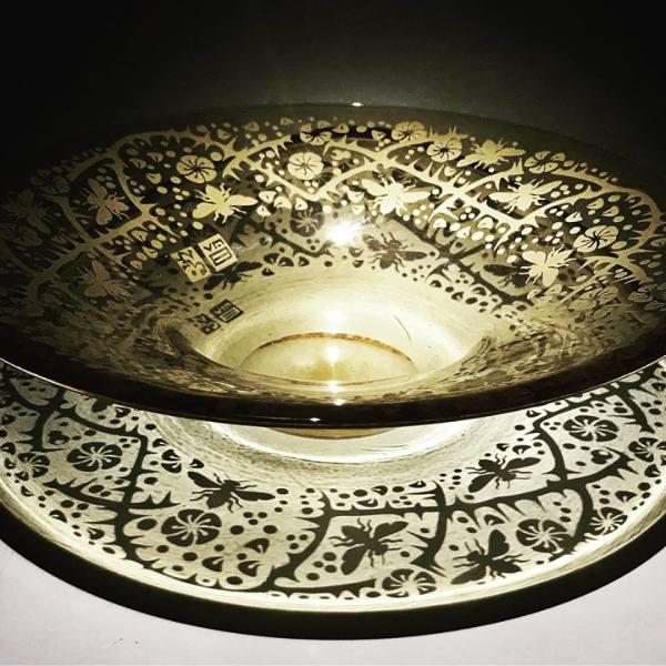 Hand Blown Glass Bowl