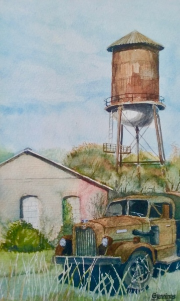 Water Tower & Old Truck