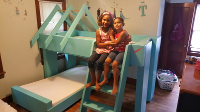 Bunk Beds with Storybook roof/ladder