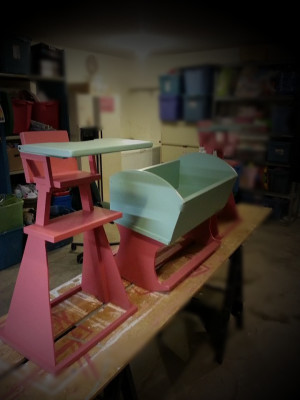 Doll High Chair & Cradle