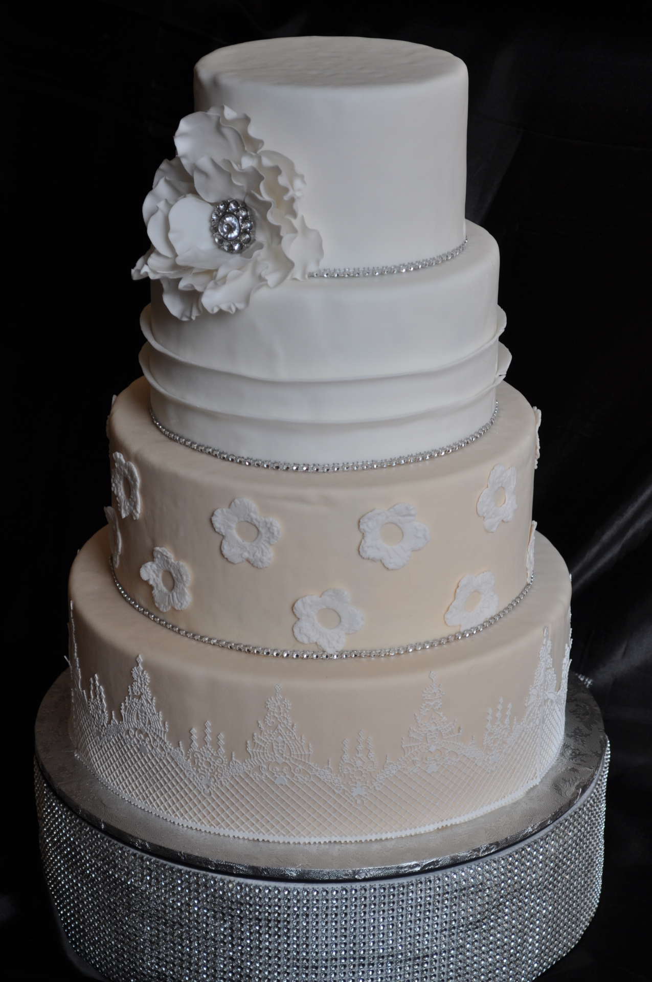 Ivory and White tiers