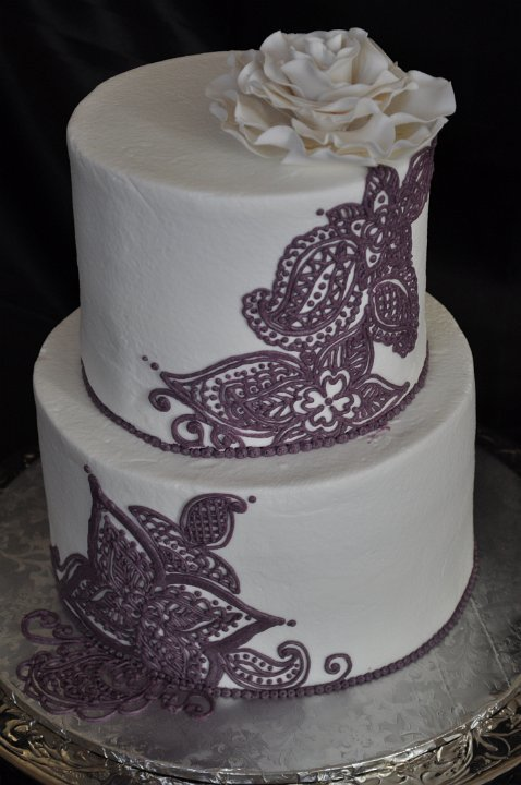 2 tier purple henna