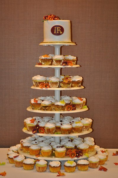 Fall cupcake tower