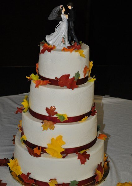 Fall leaves 4 tier