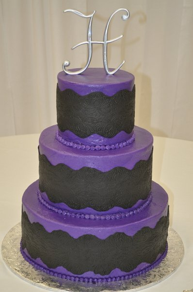 Purple with black sugar lace