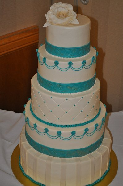 5 tier multi design and turquoise accents