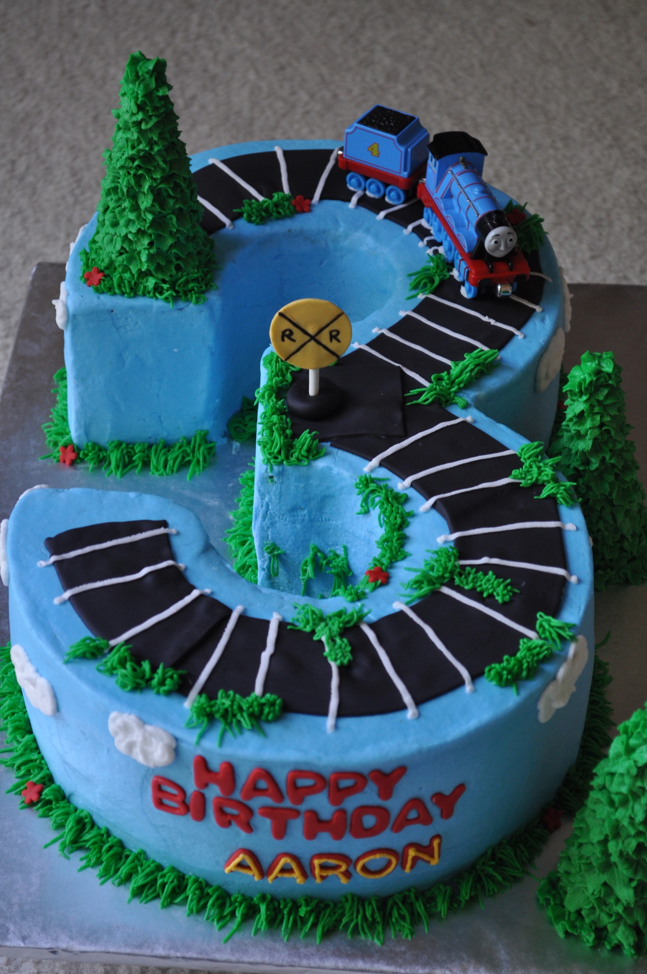 Thomas train cake, number 3 cake
