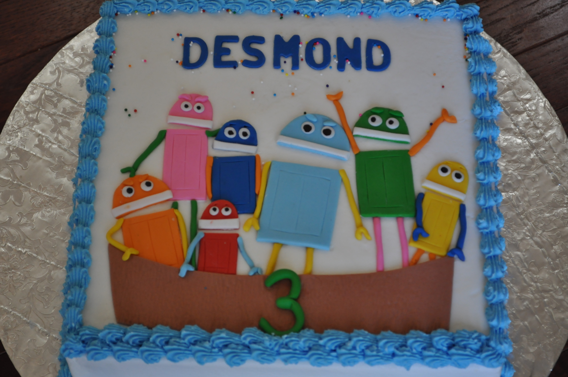 Robots cake, boys' birthday cake