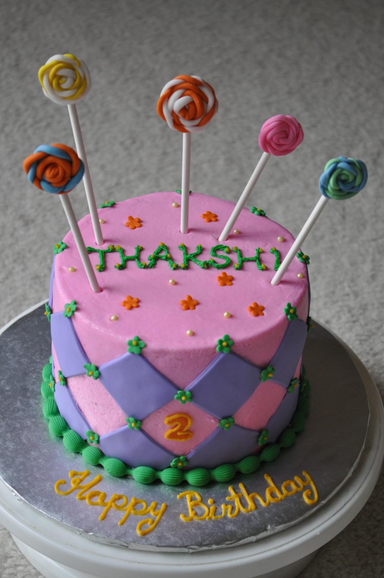 Candy lollipop cake